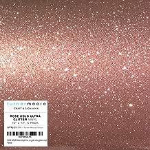 ROSE GOLD Glitter Vinyl Sheets 12