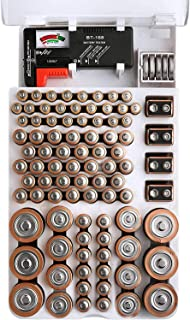 FireBall Battery Organizer with Removable Battery Tester, 93 Battery Storage Case. Holds AA, AAA, 9-Volt, C-Type, D-Type a...