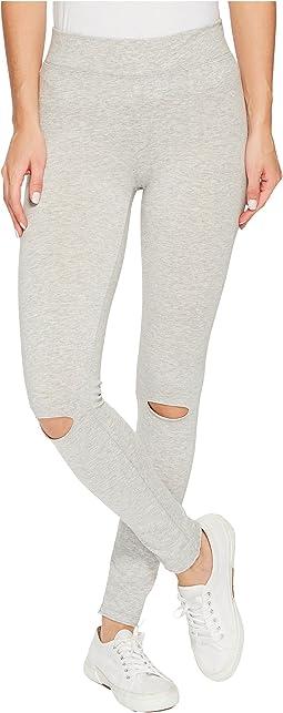 Cotton Modal Spandex Jersey Slashed Leggings
