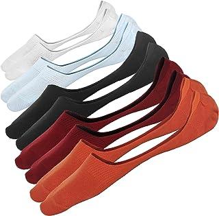 Calcetines Invisibles Hombre Cortos Transpirable de Algodón Elástco No Show Antideslizante Calcetínes