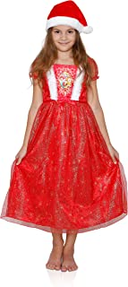 Disney Girls' Beauty and The Beast Belle Nightgown (6 Years, Princess Dress with a Hat)