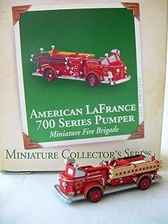 Hallmark 2005 Ornament Miniature American Lafrance 700 Series Pumper 2nd in Series Miniature Fire Brigade Series