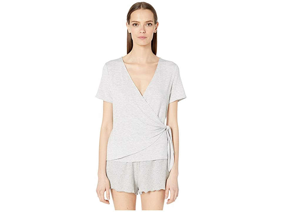 Skin Sadie Wrap Top (Heather Grey) Women