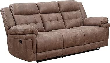 Steve Silver Anastasia Fabric Reclining Sofa in Cocoa