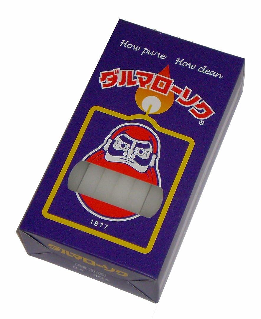 十一ハリケーンすき東海製蝋のろうそく ダルマ 3号40本入450g