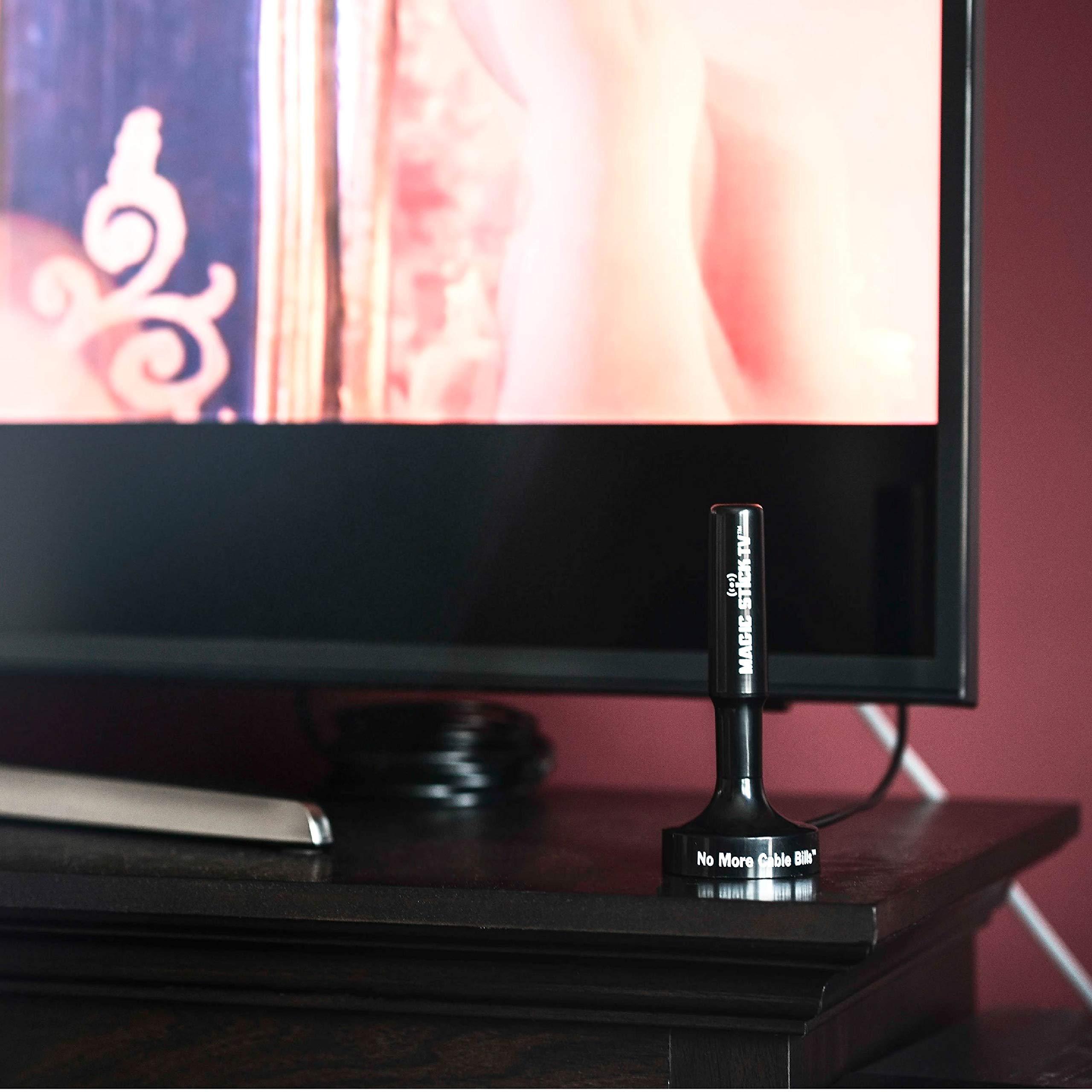 Magic Stick TV MS-50A 2019 - Antena de televisión Digital HD para Interior y Exterior, amplificada, para HDTV Digital 1080P HD Canales, Cable de 16,5 pies, Color Negro: Amazon.es: Electrónica
