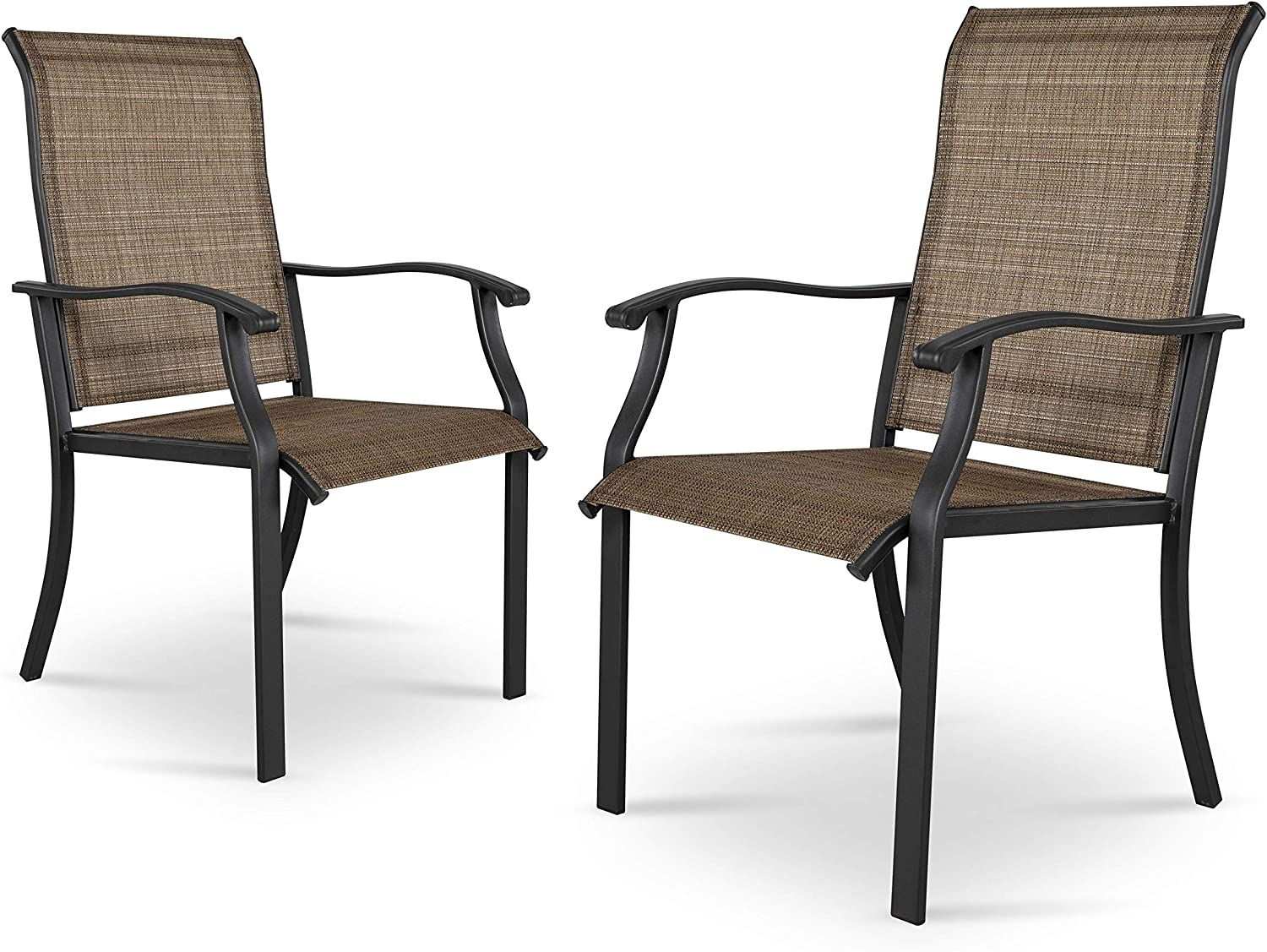 Nuu Garden Outdoor Max 84% Superior OFF Dining Chairs Set Patio 2 of wi Bistro