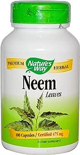 Nature's Way Premium Herbal Neem Leaf 950 mg, 100 Vegetarian Capsules, Pack of 3