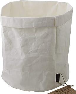 Corbeille à courrier élégante au design - Gris - Taille XXL – 21 x 21 x 35 cm – Panier de rangement en papier lavable – Bo...