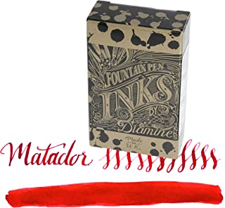 Diamine Matador - Orange Ink Cartridge For Fountain Pens 18 Per Package