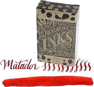 Diamine Matador - Orange Ink Cartridge For Fountain Pens 18 Per Package