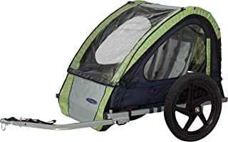 InStep Single Seat and Double Seat Foldable Tow Behind Bike Trailers, Featuring 2-in-1 Canopy and 16-Inch Wheels, for Kids and Children, Multiple Colors Available