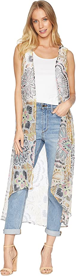 Exotic Escape Long Duster Vest