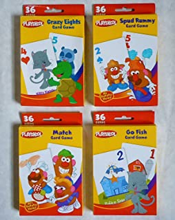 Playskool Card Games 4-Pack (Crazy Eights, Go Fish, Mr. Potato Head Spud Rummy & Mr. Potato Head Match Game)