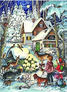 Richard Sellmer Verlag Company Children and Friendly Woodland Creatures Around Christmas Tree Advent Calendar Approx 8.25