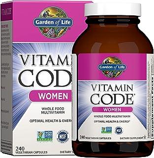 Garden of Life Multivitamin for Women, Vitamin Code Women's Multi - 240 Capsules, Whole Food...