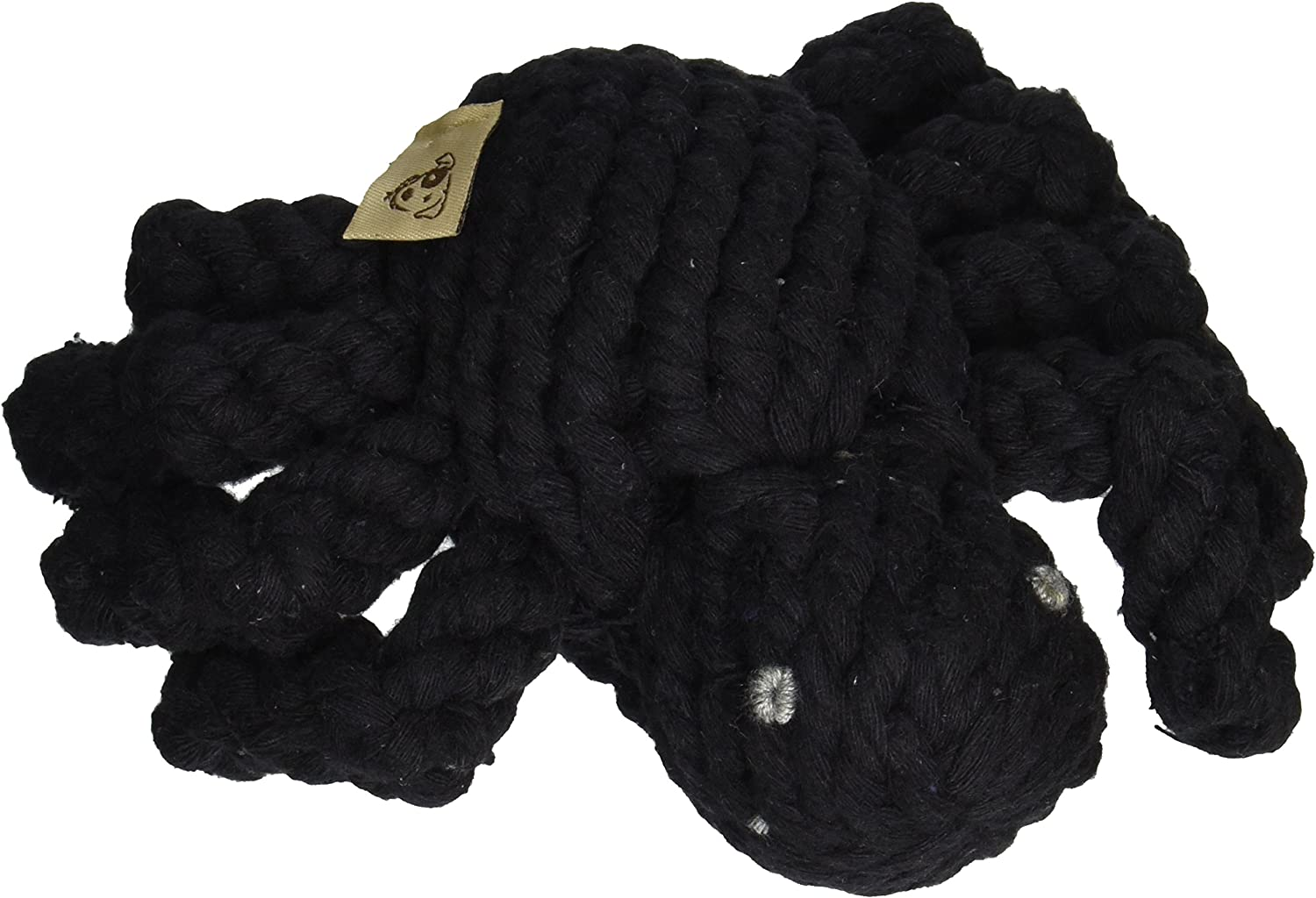 Jax and Bones Good Karma Holiday Halloween Rope Dog Toy, 5Inch, Spike The Spider