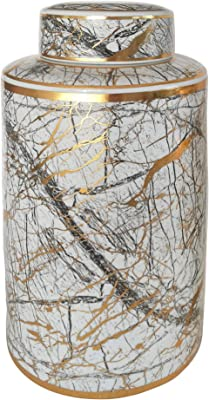 9 H Park Designs Black Star Glass Jar