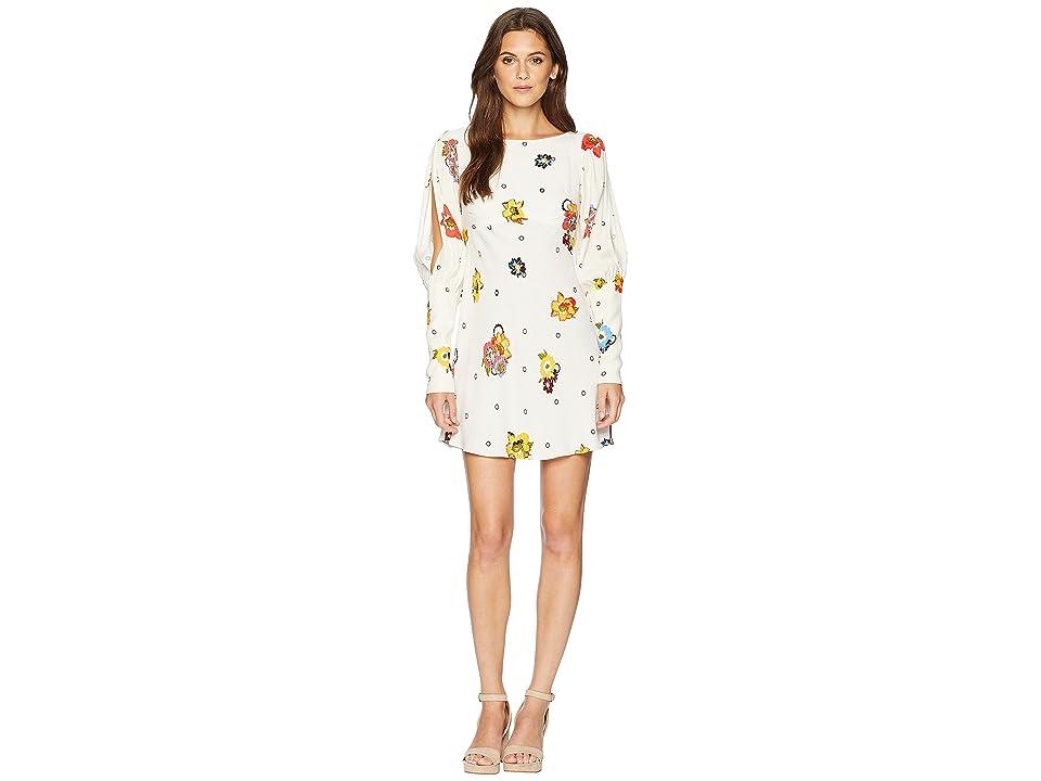 Free People Sunshadows Mini Dress (Neutral Combo) Women