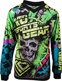 KO Sports Gear Motocross Off Road Motorcyle Jersey Skull Design - All Over Design
