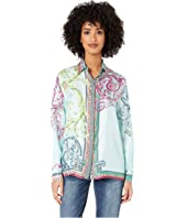 Versace Collection - Candy Ferris Wheel Print Silk Classic Shirt