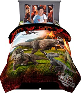 Franco Kids Bedding Super Soft Comforter with Sheets and Plush Cuddle Pillow Set, 5 Piece Twin Size, Jurassic World