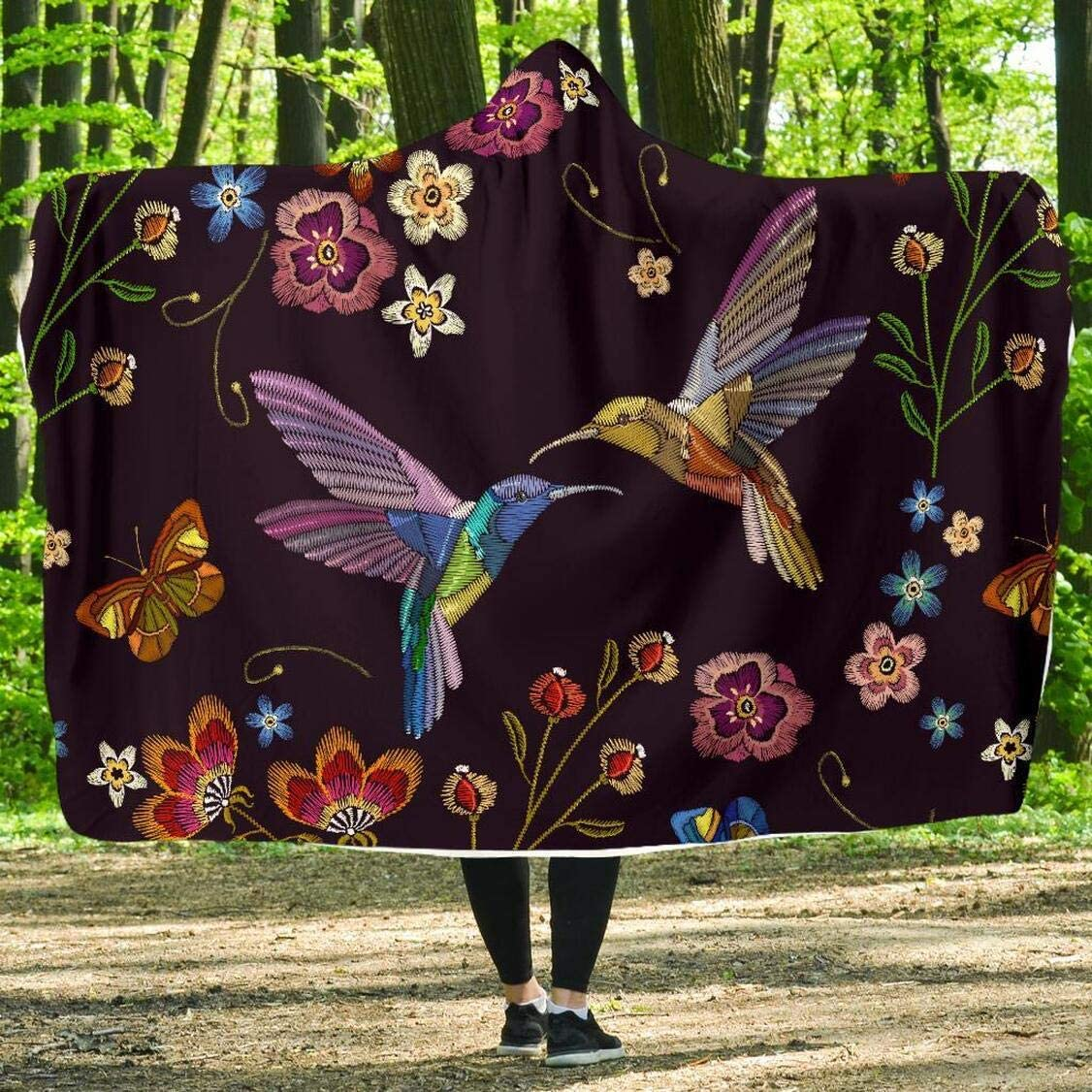 Personalized Bohemian Excellence Hummingbird Hooded - Blanket Wearable Blan Cheap sale
