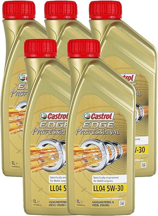 Olio motore castrol edge professional 5w30 auto benzina diesel ll04 5w30 conf. 5x1 litro 155F20