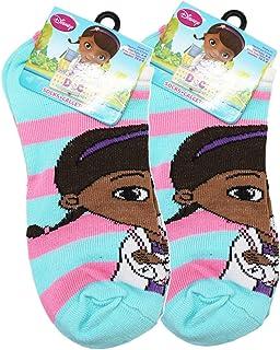Size 4-6, 2 Pairs Disneys Doc McStuffins Pink//Blue Colored Kids Socks
