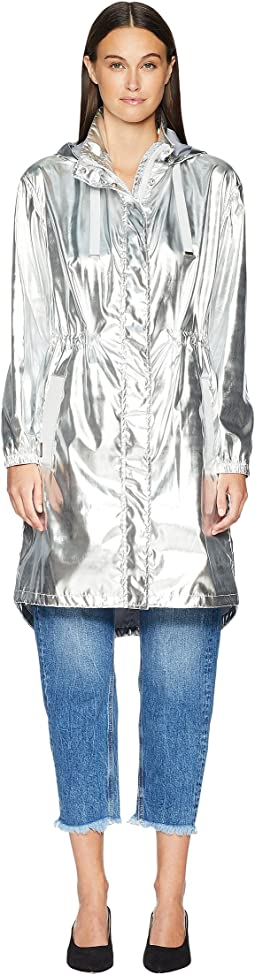 My Metallic Hooded Zip-Up Jacket