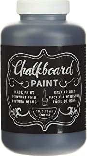 American Crafts DIY Shop Chalkboard Paint, 16.5-Ounce, Black
