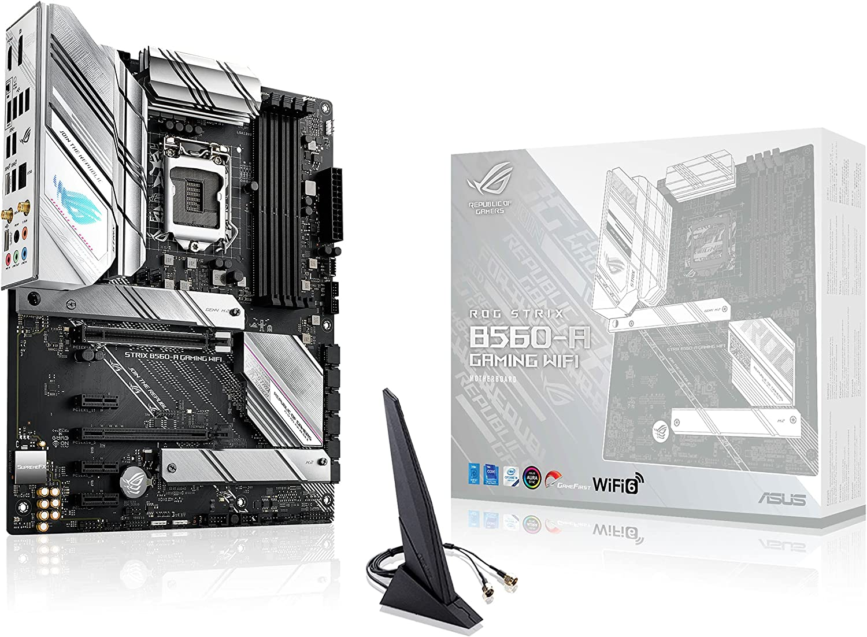 ROG Strix B560-A Gaming WiFi - Placa Base ATX (Intel B560 LGA 1200 con VRM de 8+2 Fases, PCIe 4.0, Cancelación de Ruido IA, WiFi 6, 2.5 GB Ethernet, 2 Ranuras M.2, USB 3.2 Gen 2 x 2 y Aura Sync)
