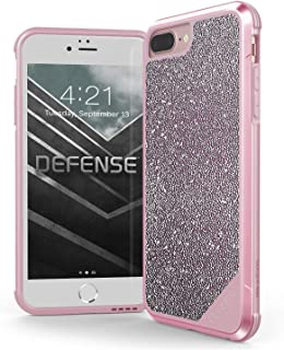 X-Doria iPhone 8 Plus, iPhone 7 Plus, iPhone 6 Plus Case, Defense Lux - Military Grade Drop Tested Case for Apple iPhone 8 Plus, iPhone 7 Plus & iPhone 6 Plus (Pink Glitter)