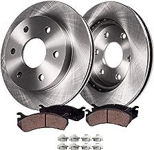 Detroit Axle - Front Brake Rotors & Ceramic Pads w/Clips Hardware Kit Premium GRADE for 07-18 Escalade, ESV, Chevy Tahoe, GMC Yukon - [08-18 Sierra/Silverado 1500] - [07-13 Avalanche, EXT]