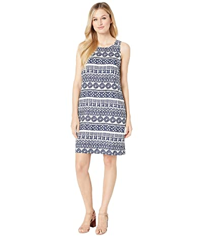 Tommy Bahama Tahiti Tango Shift Dress (White/Island Navy) Women