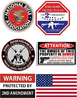 2nd Amendment Sticker Flag Decal 2A American Flags Vinyl 2 Pack 5 x 3.5 USA America Defend Second Home Security Car Truck