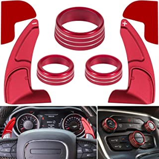 For Dodge Challenger Charger Durango 2015-2020 Interior Accessories Steering Wheel Shift Paddle Extended Trim Cover+Air Co...