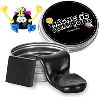 ILC Magnetic Putty Playdough Creative Magnet Toy Slime Stress Reliever for Kids and Adults for Fun (Black)