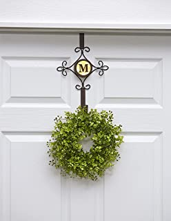 The Lakeside Collection Lighted LED Monogram Wreath Door Hanger