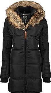 Geographical Norway Belissima - Parka invernale da donna, con cappuccio in pelliccia, XL