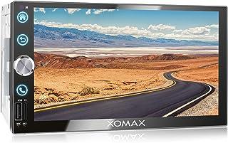 XOMAX XM 2V766 Autoradio mit Mirrorlink, Bluetooth Freisprecheinrichtung, 7 Zoll / 18cm Touchscreen Bildschirm, FM Tuner, SD, USB, 2 DIN
