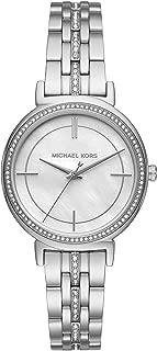 Michael Kors Cinthia Pave Silvertone Watch