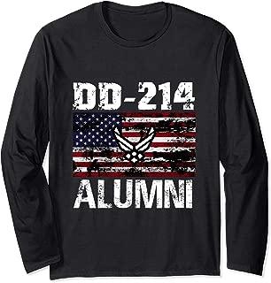 DD-214 Alumni US Armed Forces Vintage Long Sleeve Shirt
