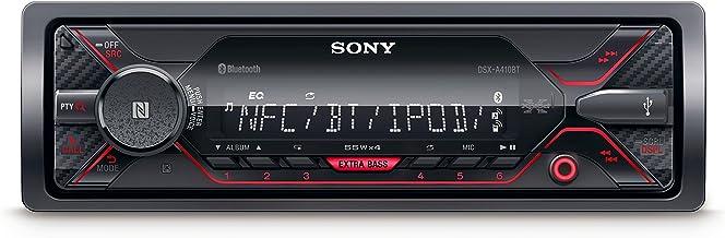 Sony DSX-A410BT - Receptor multimedia para coche (conexión Bluetooth doble, NFC, ecualizador de 10 bandas, función karaoke, 4 x 55 W, MP3 y FLAC, Extra Bass, USB, AOA 2.0), color negro
