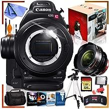 Canon C100 Cinema EOS Camera with CN-E 14mm T3.1 L F Cinema Lens, Fully Loaded Recording Bundle
