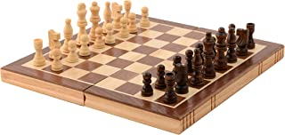Kangaroo Folding Wooden Chess Set with Magnet Closure - Classic