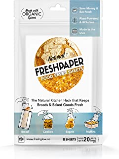 FRESHPAPER, Food Saver Sheets for Bread, Keep Baked Goods Fresh, Perfect for Bagels, Muffins, Cookie Platters and Party Prep, BPA Free, Made in USA - 1-Pack
