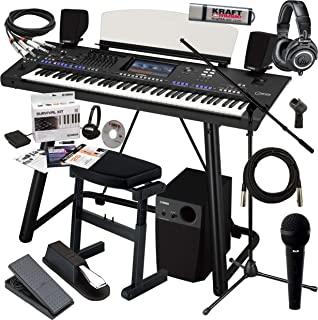 Yamaha Genos with Genos Speaker System, Genos Stand, Bench, Pedals, Microphone, Headphones and Flash Drive