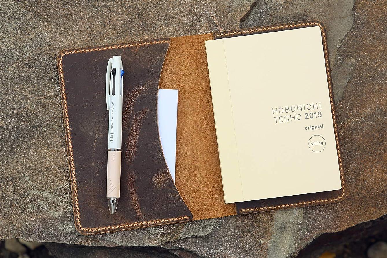 ラグプラス冷凍庫ビンテージ A5サイズほぼ日手帳レザーカバー オイルタンニンなめし牛革 本革ノート記事本ケース NHBA505S-NP