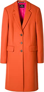PS by Paul Smith Women's Wool and Cashmere Blend Epsom Coat Orange